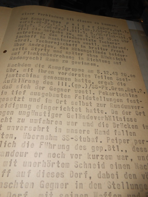 This document was submitted as a recommendation for one of the largest war criminals inside a German combat unit. Jochim Peiper was recommended for the Diamonds to his Oak Leaves on the Knights Cross. The hows and why are spelled out in this document, which bears some amazing signatures.